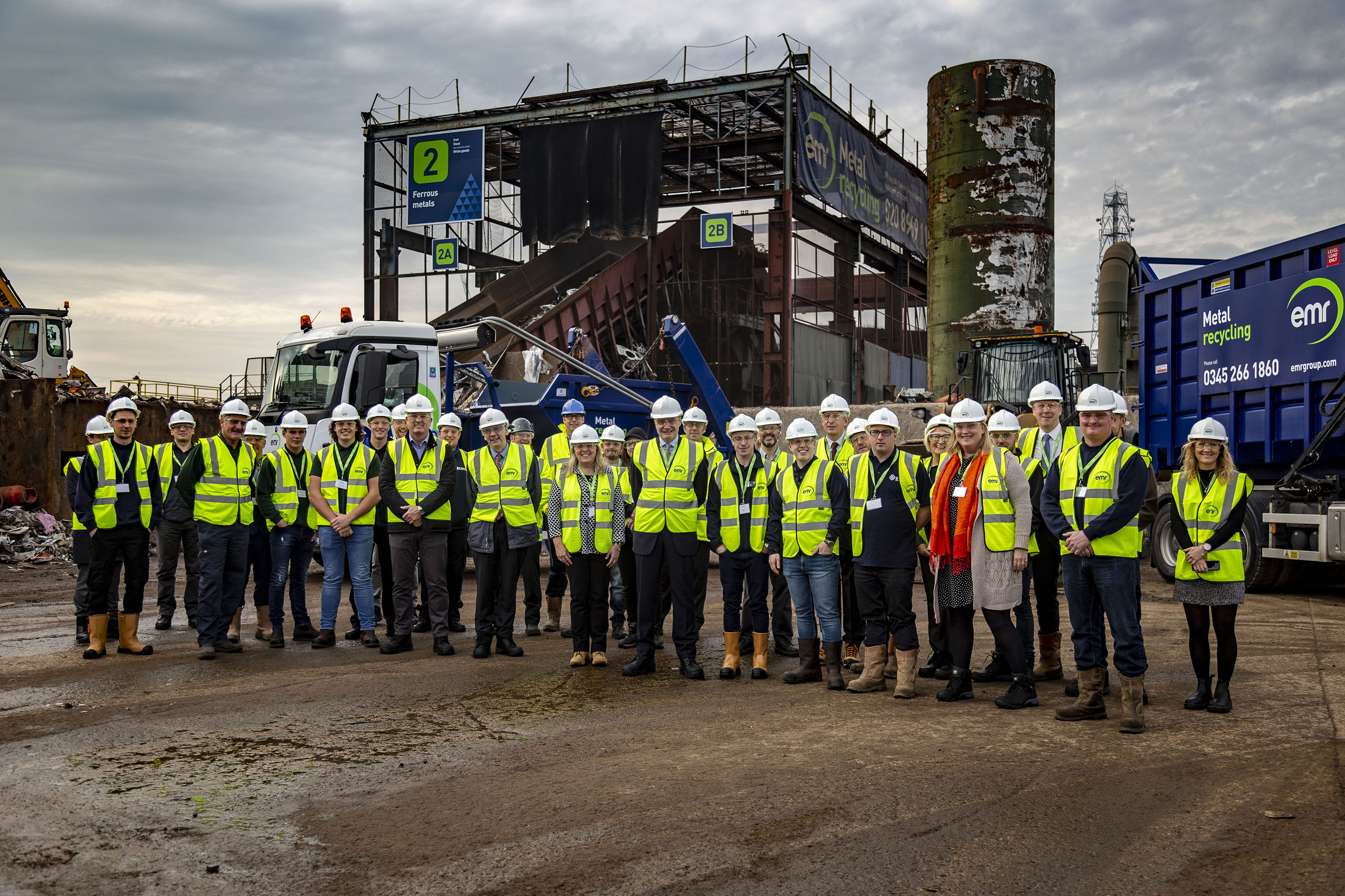 Guests at the metal recycling apprenticeship event